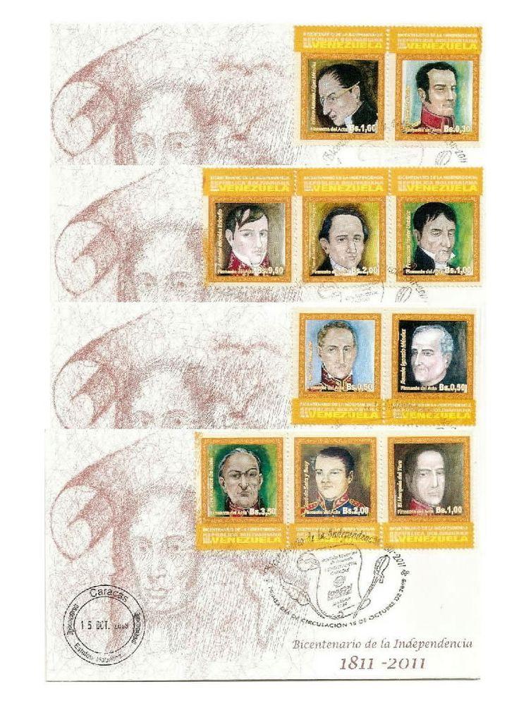 Venezuela: Bicentenarios firmantes del acta de independencia (amarillo) 2009