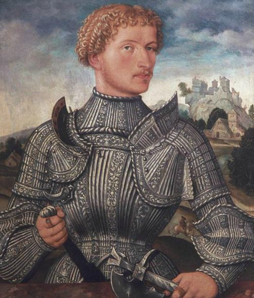 Master L. S. of Augsburg - Portrait of Knight of the Augsburg Family of Rehlinger 1540
