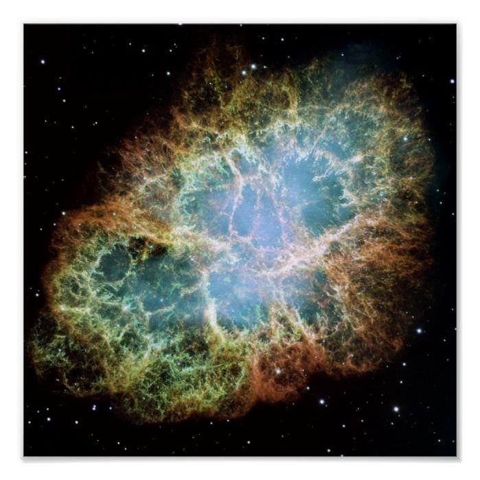 Crab Nebula Space Nasa Photo Poster Zazzle Com Hubble Space Space Telescope Nasa Hubble