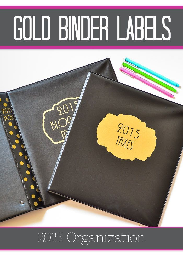 Dress up cheap binders with cute gold labels! DIY with your Silhouette or order them here. (scheduled via http://www.tailwindapp.com?utm_source=pinterest&utm_medium=twpin&utm_content=post587959&utm_campaign=scheduler_attribution)