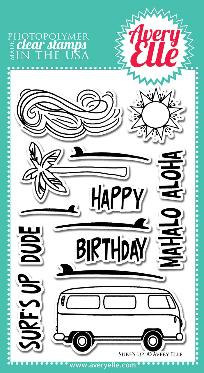Avery Elle  - Surf's Up Clear Stamps, $15.00 (http://www.averyelle.com/surfs-up-clear-stamps/)