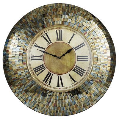 Amber Mosaic Clock
