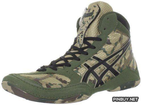 ASICS Men's SS 9 LE Camo Wrestling Shoe,Khaki-Black-Army Green ...