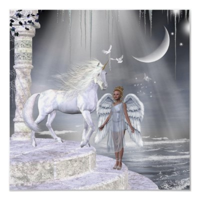 Angels Fae Unicorns Print | Zazzle.com