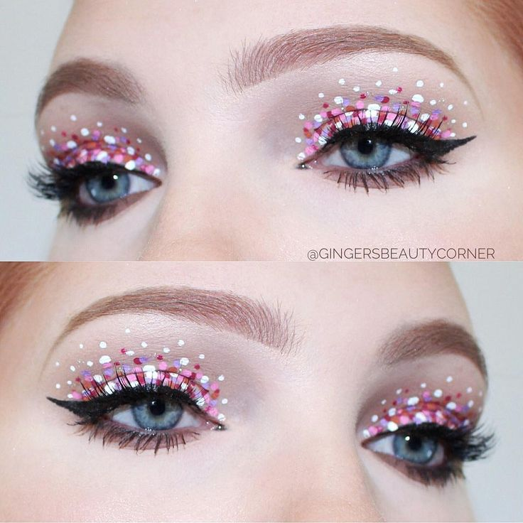 POLKA DOT MAKEUP using nyx cosmetics vivid brights liners, anastasia beverly hills brows and koko lashes ! follow me on Instagram @gingersbeautycorner