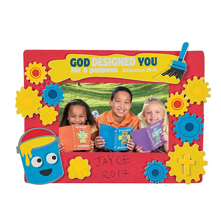 Geared+up+for+God+VBS+Picture+Frame+Magnet+Craft+Kit+-+OrientalTrading.com