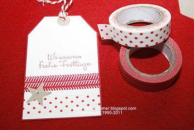 washi holiday tags