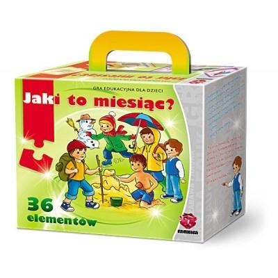 Dzieci w trakcie zabawy uczą się kojarzyć miesiące z odpowiednią porą roku oraz zapamiętują ich nazwy. Elementy gry opracowane w efektownej formie 3D.WIEK: 4-7 lat