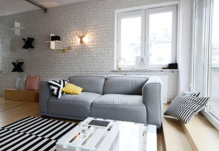 Apartament Praga : styl Skandynawski, w kategorii Salon zaprojektowany przez…