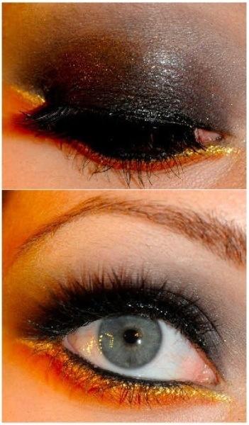 dark gold eye makeup