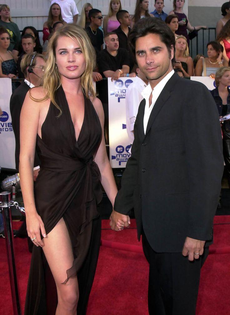 Rebecca Romijn with first husband John Stamos