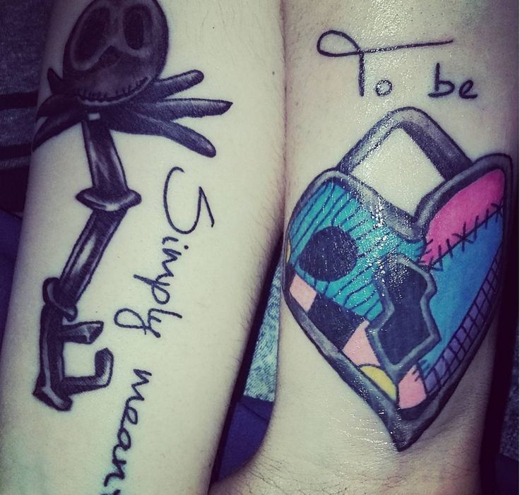 'Nightmare Before Christmas' couples tat