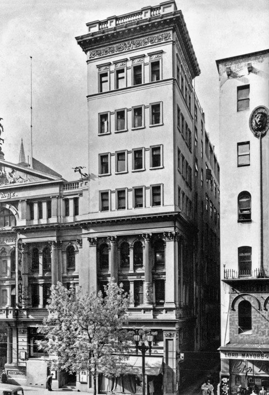 Part of the old Age newspaper building on Collins Street. (Historic photo of the day   Forum   Urban Melbourne)