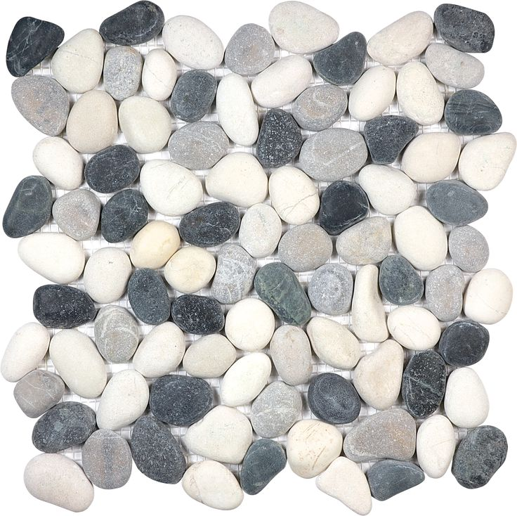 Tranquil Cool Blend Natural Pebble #Mosaic www.anatoliatile.com
