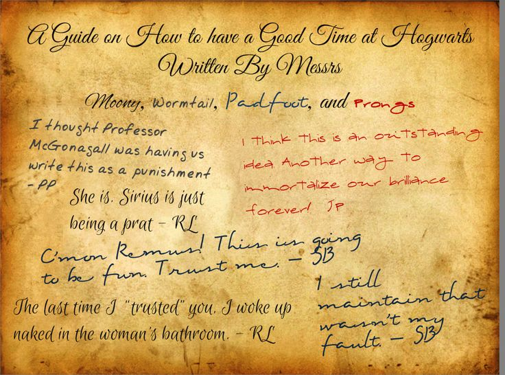 77 best The Marauders Guide on How to Have a Good Time At Hogwarts - how to write petition guide