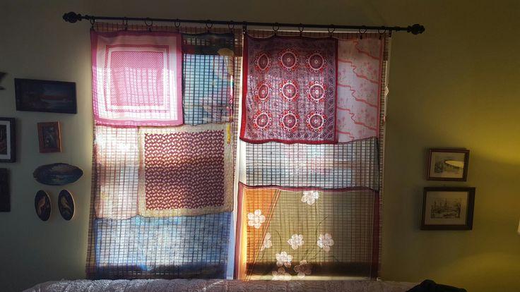 Boho scarf curtains