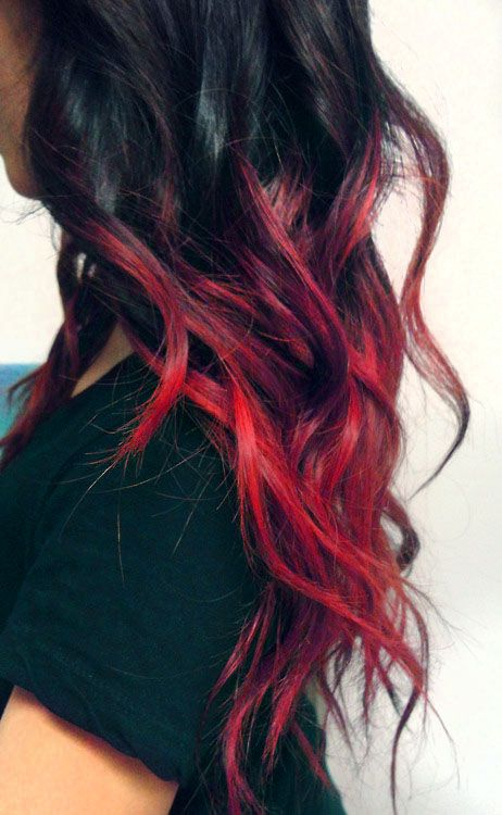 Red Dip Dyed Hair Tumb...