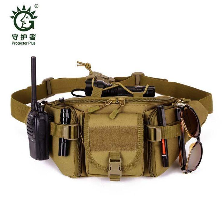 buy best price Hot Waterproof Waist Pack Belt Bag for Men Crossbody Bag Bum Fanny Bicycle Equipment Male Military Female Shoulder Bags