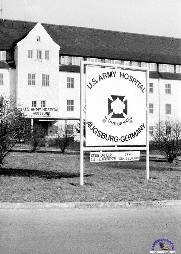 Fancy Flak Ksn Bldg US Army Hospital Augsburg late