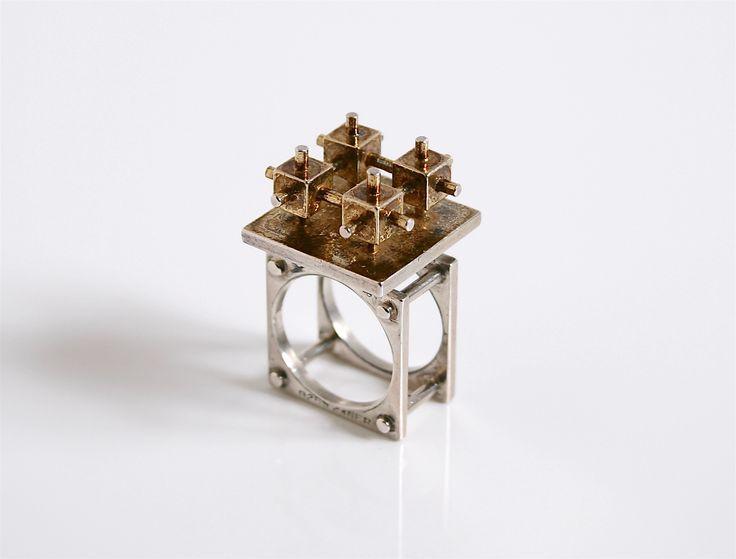 Rare Bent Exner 1960's Ring Denmark