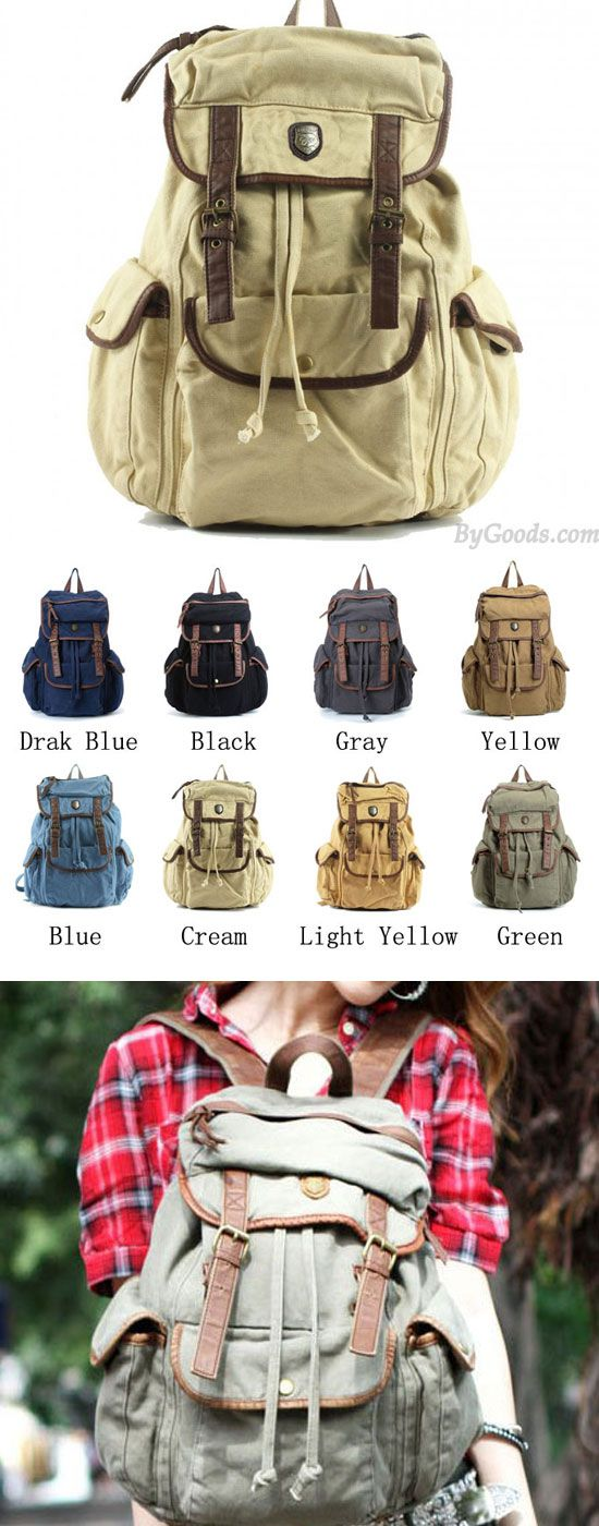 Which color do you like? Durable Street Retro Vintage Large Capacity Multi-Pocket Travel Backpack #backpack #pocket #travel #vintage #retro #camping #bag #rucksack
