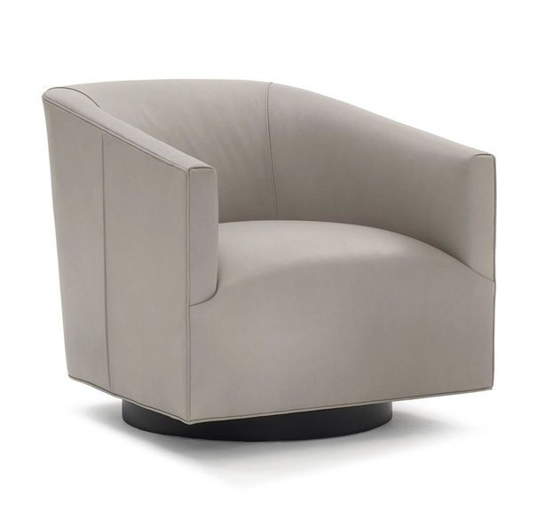 COOPER LEATHER SWIVEL CHAIR,
