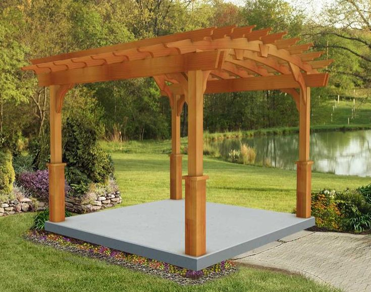 Pergolas Designs Red Cedar Arched Free Standing Pergolas