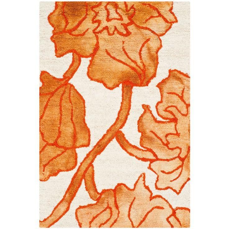 Safavieh Hand-Tufted Dip Dye / Orange Rug