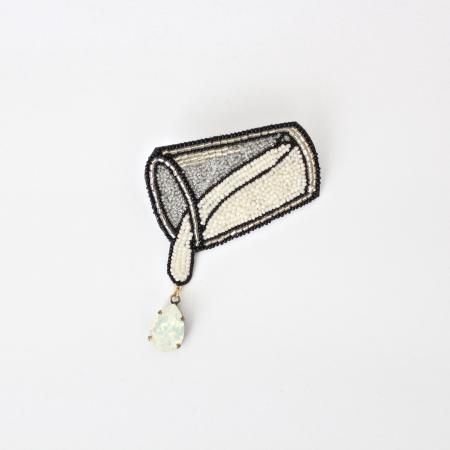 bead 'milk' glass - Moko Kobayashi