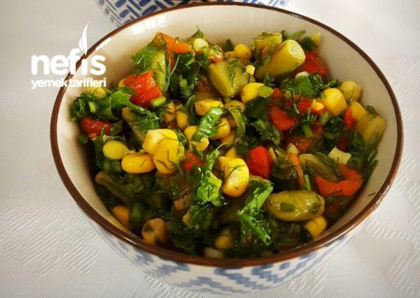 Biberli Yeşil Fasulye Salatası