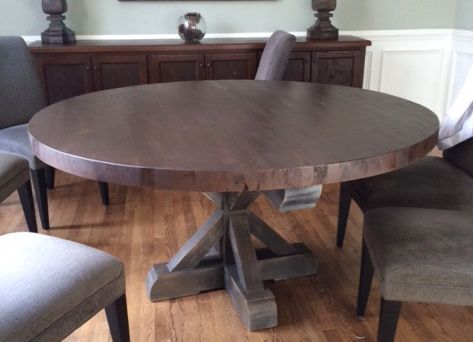 Custom Pine Pedestal Tables