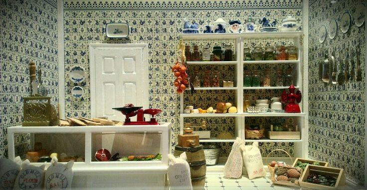 Dutch Delicatessen... My first attempt at a miniature shop by Sarah Harrison Mini-Shop Designs