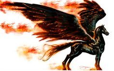 fire pegasus tattoo - Google Search