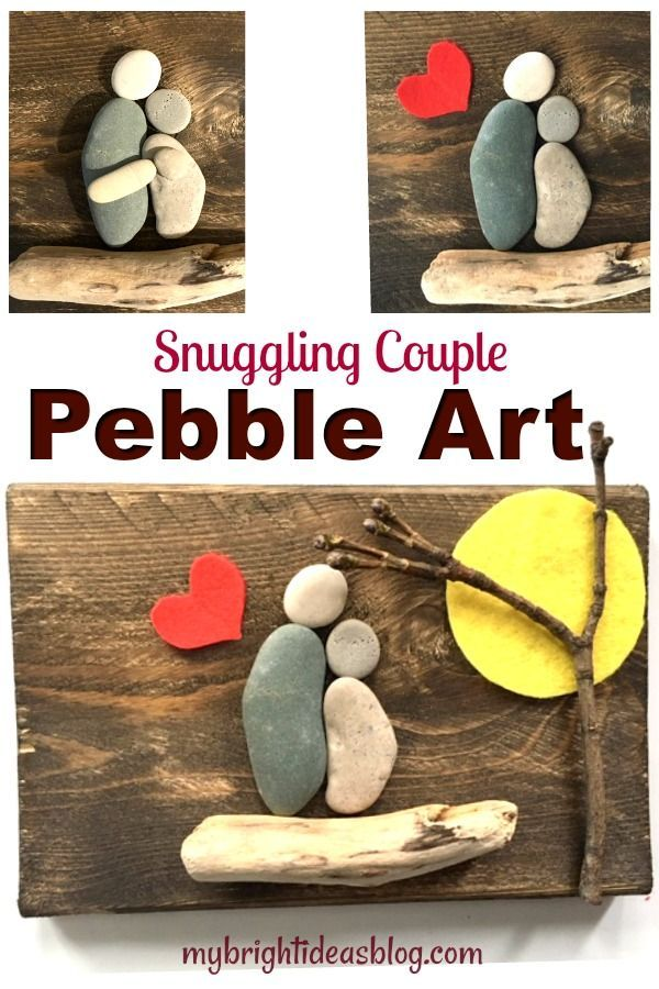 Pebble Art A Snuggling Couple My Bright Ideas Couples Art Project Diy Projects For Couples Couple Crafts