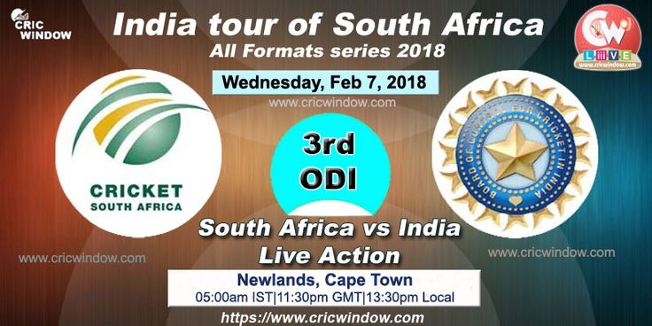 3rd one-day : South Africa vs India live action https://www.cricwindow.com/cricket-live-match-video.html