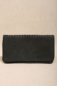 Made X Daisy Knights Leather Stud Clutch