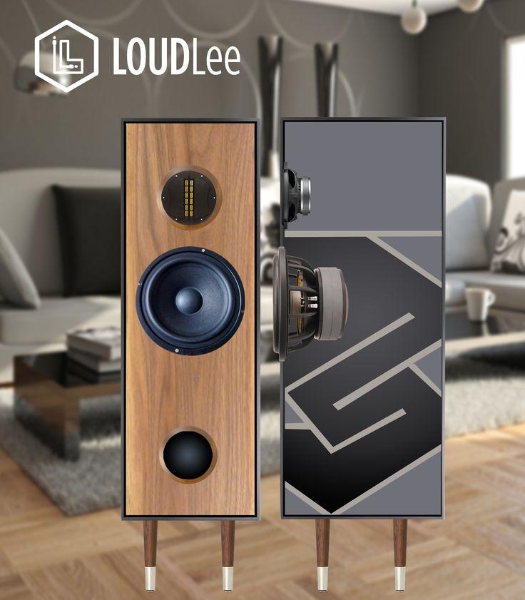 Retro Floor Stander Using Silver Flute Woofer Crossed With Ribbon Tweeter In A Transmission Designed Cabinet Diy Speakersmonitor
