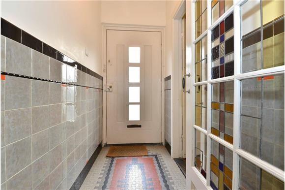 tegellambrisering glas in lood deur   utrecht oog in al   jaren 30   monique van waes mozaiek.com