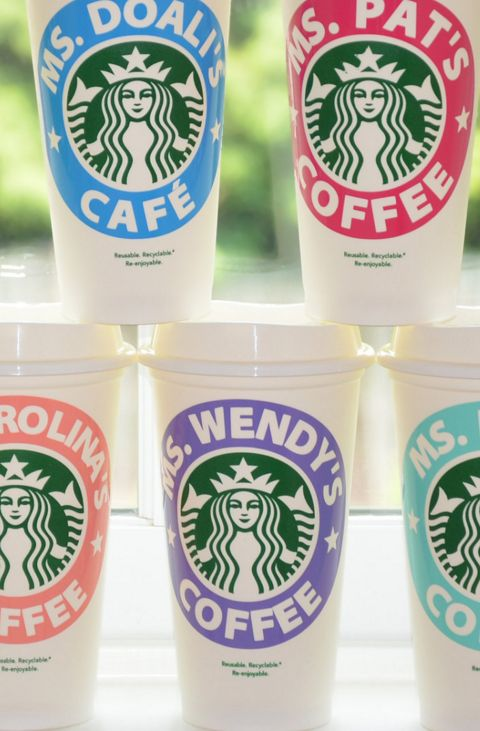 Such pretty personalized Starbucks cups