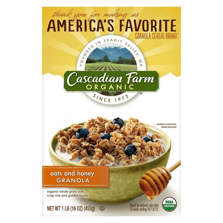 Cascadian Farm Oats & Honey Granola 16 oz