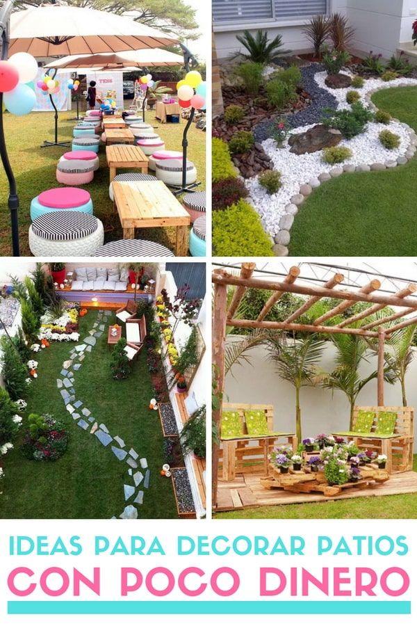 Ideas Para Decorar Patios Con Poco Dinero Decoracion Low Cost Decorar Jardin Con Piedras Decoración De Patio Decoración De Patio Exterior