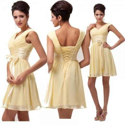 Gorgeous YELLOW summer dresses! Looks great with boots, sandals or heels! Perfect to wear to or in a western wedding. We LOVE the lace up corset style back! Also comes in Ivory!  | http://www.alwaysabouthorses.com/Equestrian-Apparel-Jewely-cowgirl/cowgirl-dresses/Cowgirl-Glam-Dress-Ruched-Bodice-V-Neck-Lace-Up-Back-Fitted-Waist-and-Bow-Pastel-Yellow-Chiffon-Western-Dress?limit=100