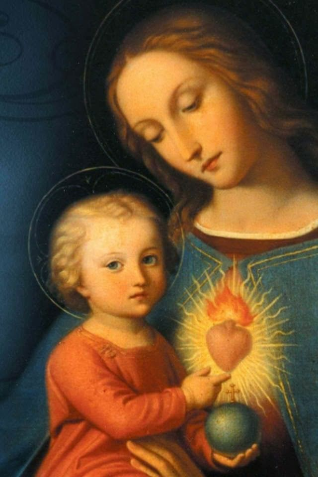 Madonna and Child and her Immaculate Heart