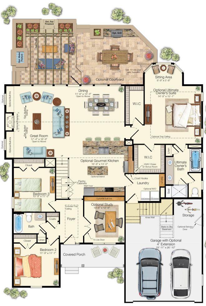 168 best Floor Plans images on Pinterest | Floor plans, Home plans ...