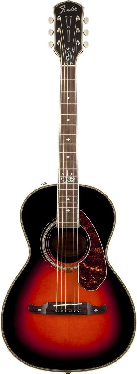 Fender Ron Emory Loyalty Parlor Acoustic Guitar Longtime T.S.O.L. guitarist Ron Emory has infused some truly distinctive Fender acoustic guitars with his years of SoCal-punk cred and expertise. Among