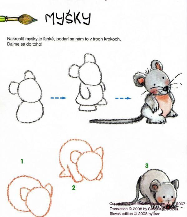 Muis tekenen met kleuters 1
