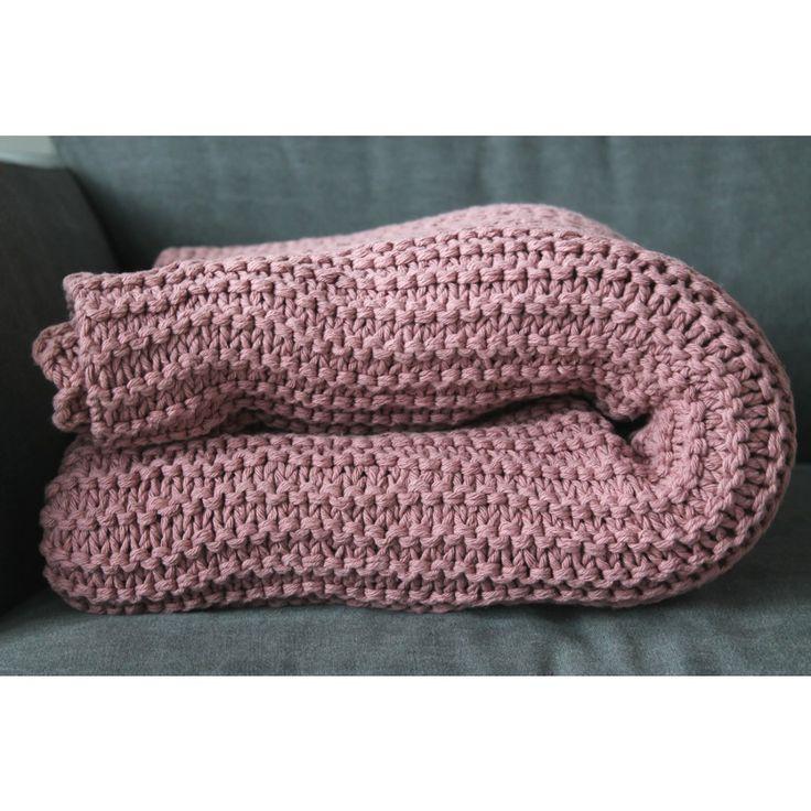 Knitted plaid / Gebreide plaid