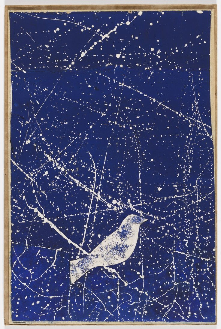 """""""Constellation"""" (Project for a Christmas card) by Joseph Cornell, 1953"""