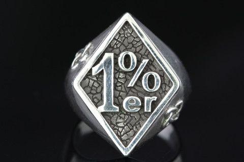 Outlaw Ring 1er One Percenter Ring 925 Sterling Silver