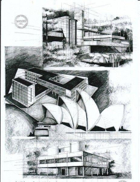 Modern Architecture Design Sketch